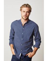 Velvet By Graham & Spencer - Heath Collarless Woven Cotton Shirt - Lyst