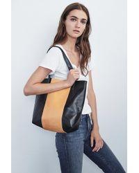 Velvet By Graham & Spencer - Serina Color Block Leather Tote Bag - Lyst