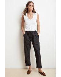 Velvet - Megara Cotton Poplin Straight Pants - Lyst