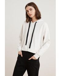 Velvet By Graham & Spencer - Pandora Structured Cotton Hoodie - Lyst