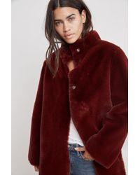 Velvet By Graham & Spencer - Mina Lux Faux Fur Reversible Coat - Lyst