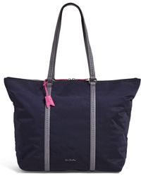 6f24cf0ec Vera Bradley Midtown Small Tote (black) Tote Handbags in Black - Lyst