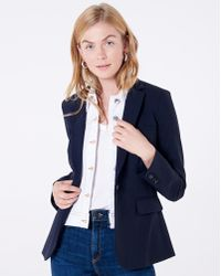 12c527bcb67af Lyst - Veronica Beard Classic Dickey Jacket With Slate Dickey in Blue