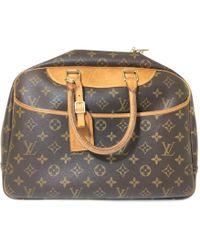 Louis Vuitton - Vintage Deauville Brown Cloth Handbag - Lyst
