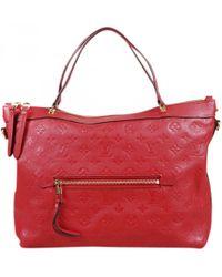 Lyst - Cartable Bastille en cuir Louis Vuitton en coloris Rouge 2da71908b5a