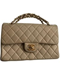 Chanel - Timeless/classique Beige Leather - Lyst