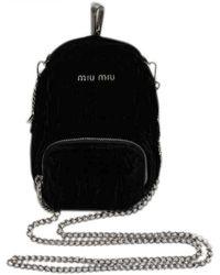 Miu Miu - Black Velvet Handbag - Lyst 22886dd4683fd