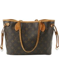 Louis Vuitton - Pre-owned Vintage Neverfull Brown Leather Handbags - Lyst