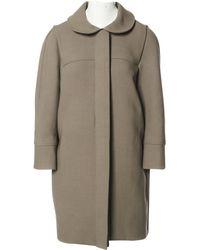 Chloé - Pre-owned Beige Wool Coats - Lyst