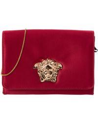 ed350d01f5 Lyst - Versace  palazzo  Patent Clutch Bag in Metallic