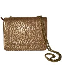 Jérôme Dreyfuss - Pre-owned Eliot Gold Leather Handbags - Lyst