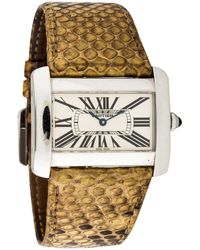 Cartier - Pre-owned Divan Watch - Lyst
