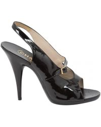 Chanel   Patent Leather Sandals   Lyst