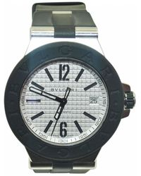 BVLGARI - Pre-owned Diagono Watch - Lyst