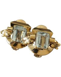 Cartier - Pre-owned Vintage Blue Yellow Gold Earrings - Lyst
