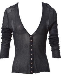 Dior - Vintage Navy Viscose Knitwear - Lyst
