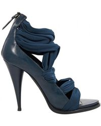 Givenchy - Blue Leather Heels - Lyst