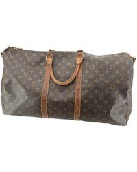 Louis Vuitton - Keepall Brown Cloth - Lyst