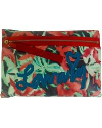 Lanvin Multicolour Polyester Clutch Bag - Red