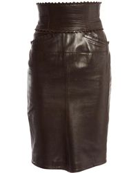 Dior - Leather Skirt Suit - Lyst