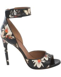Givenchy - Shark Black Leather Sandals - Lyst
