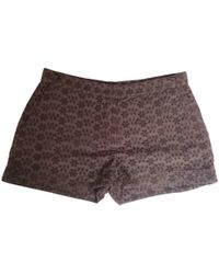JOSEPH - Brown Cotton Shorts - Lyst