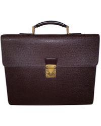 Louis Vuitton - Leather Satchel - Lyst
