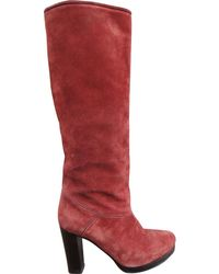 Vanessa Bruno - Brown Suede Boot - Lyst