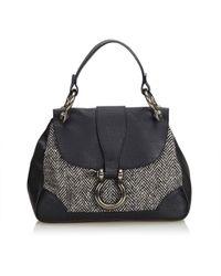 89f17a661ebe Burberry - Pre-owned Black Wool Handbags - Lyst