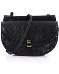 Chloé - Georgia Black Python Handbag - Lyst
