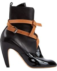 859621ad0a23 Lyst - Louis Vuitton Black Patent Leather Ankle Boot in Black