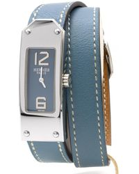 Hermès - Pre-owned Kelly Ii Blue Steel Watches - Lyst
