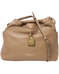 Burberry - Beige Leather Handbag - Lyst