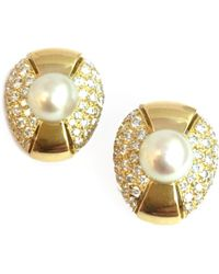 Cartier - Vintage Other Yellow Gold Earrings - Lyst