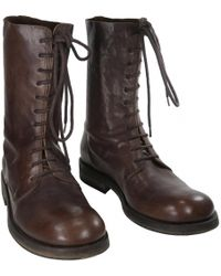 596fe088e88 Ann Demeulemeester - Brown Leather Boot - Lyst