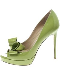 Valentino - Green Patent Leather Heels - Lyst