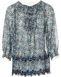 Anna Sui - Multicolour Silk Top - Lyst