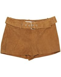 Céline | Pre-owned Camel Suede Shorts | Lyst