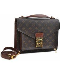 Louis Vuitton - Monceau Brown Cloth - Lyst