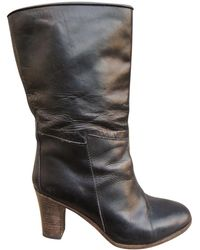 A.P.C. - Black Leather Boots - Lyst