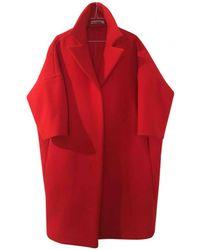Jil Sander - Pre-owned Red Wool Coats - Lyst