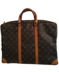 Louis Vuitton - Pre-owned Vintage Brown Cloth Handbags - Lyst