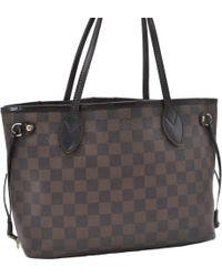 Louis Vuitton - Neverfull Leinen Handtaschen - Lyst