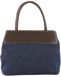 6b12731fd44e Lyst - Chanel Pre-owned Boy Tote Blue Denim - Jeans Handbags in Blue