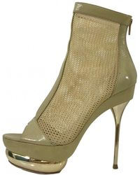 Emilio Pucci - Beige Leather Boots - Lyst