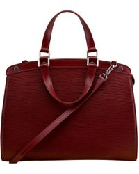 Lyst - Sac bandoulière Bréa en cuir Louis Vuitton en coloris Rouge a25ce00836c