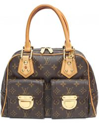 Louis Vuitton - Pre-owned Manhattan Leather Handbag - Lyst