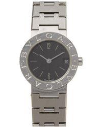 BVLGARI - Silver Steel Watches - Lyst