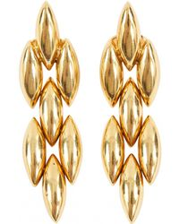 Cartier - Vintage Gold Yellow Gold Earrings - Lyst