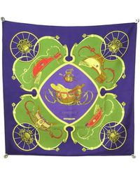 Hermès - Carré 90 Purple Silk Silk Handkerchief - Lyst